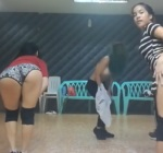 Hot dancers sexy tease while practice